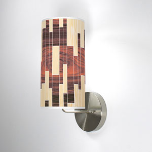 Tile 2 Oak and Rosewood One-Light Wall Sconce
