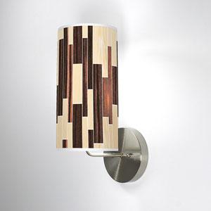 Tile 2 Oak and Ebony One-Light Wall Sconce