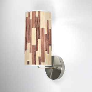 Tile 2 Oak and Walnut One-Light Wall Sconce