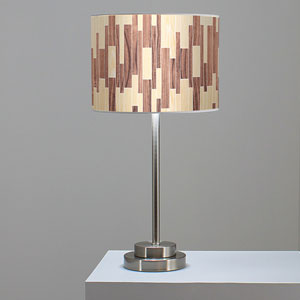 Tile 2 Oak and Walnut One-Light Table Lamp