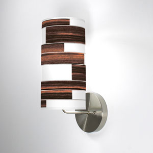 Tile 3 Ebony One-Light Wall Sconce