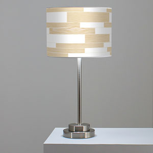 Tile 3 White Oak One-Light Table Lamp