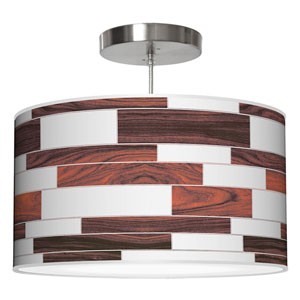 Tile 3 White Oak 36-Inch Three-Light Drum Pendant