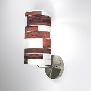 Tile 3 Rosewood One-Light Wall Sconce
