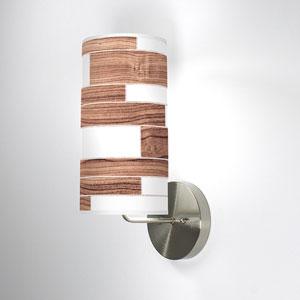 Tile 3 Walnut One-Light Wall Sconce