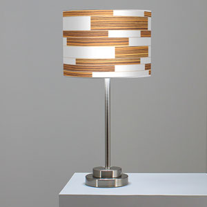 Tile 3 Zebrawood One-Light Table Lamp