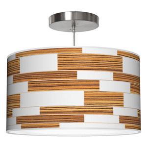 Tile 3 Zebrawood 16-Inch One-Light Drum Pendant