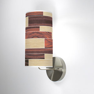 Tile 4 Oak and Rosewood One-Light Wall Sconce