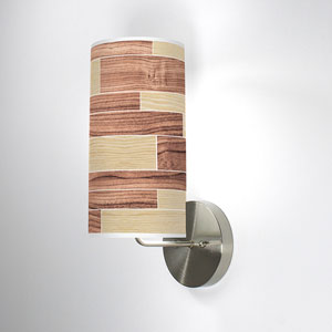 Tile 4 Oak and Walnut One-Light Wall Sconce
