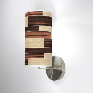 Tile 4 Oak and Ebony One-Light Wall Sconce