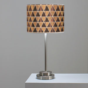 Triangle 2 Zebrawood and Ebony One-Light Table Lamp