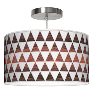 Triangle 1 White Oak 16-Inch One-Light Drum Pendant