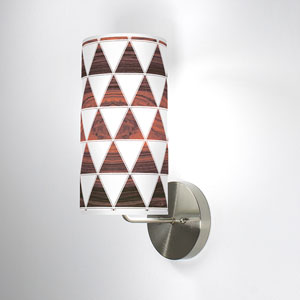Triangle 1 Rosewood One-Light Wall Sconce