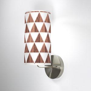 Triangle 1 Walnut One-Light Wall Sconce