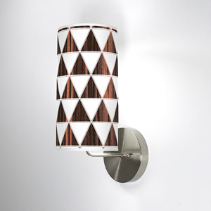 Triangle 1 Ebony One-Light Wall Sconce