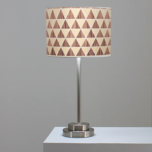 Triangle 2 Oak and Walnut One-Light Table Lamp