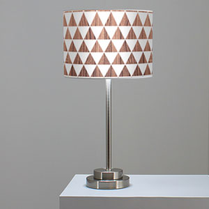 Triangle 1 Walnut One-Light Table Lamp