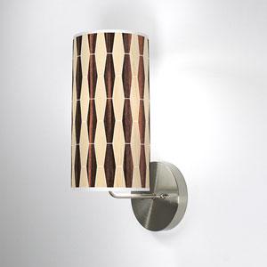 Weave 2 Oak and Ebony One-Light Wall Sconce