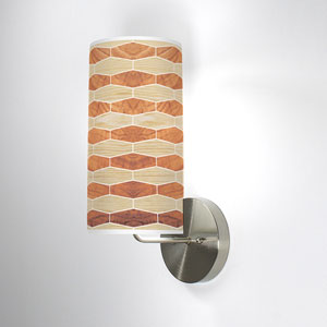 Weave 4 Oak and Mahogany One-Light Wall Sconce