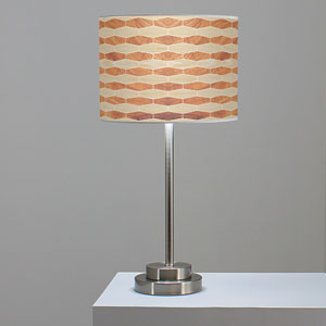 Weave 4 Oak and Mahogany One-Light Table Lamp