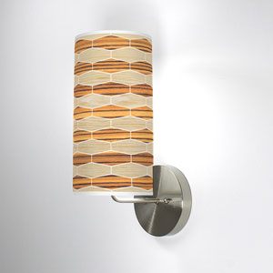 Weave 4 Oak and Zebrawood One-Light Wall Sconce
