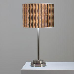 Weave 2 Zebrawood and Ebony One-Light Table Lamp