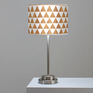 Triangle 1 Zebrawood One-Light Table Lamp