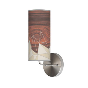 Facet Cream One-Light Wall Sconce