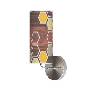 Hex Cream One-Light Wall Sconce