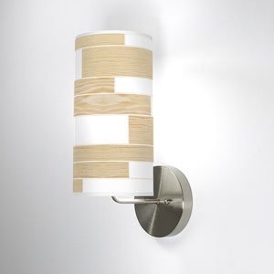 Tile 3 White Oak One-Light Wall Sconce