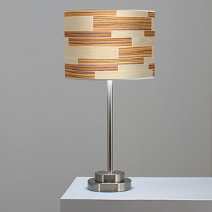 Tile 4 Oak and Zebrawood One-Light Table Lamp