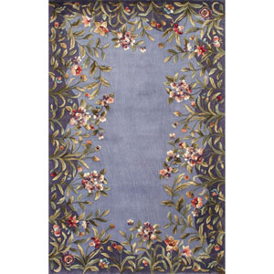 Emerald Lavender Garden Rectangle: 8 Ft. x 11 Ft. Rug