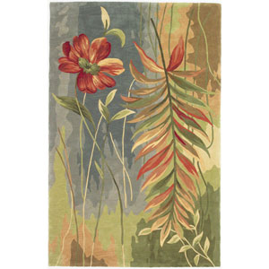 Sparta Multicolor Island Oasis Rectangle: 3 Ft. 6 In. x 5 Ft. 6 In. Rug