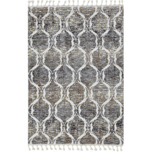 Bungalow Gray and Sand Rectangular: 7 Ft. 10 In. x 10 Ft. 6 In. Rug