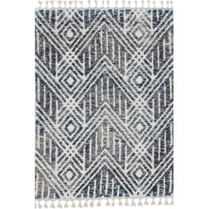 Bungalow Gray and Ivory Rectangular: 8 Ft. 9 In. x 13 Ft. Rug