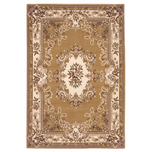 Corinthian Aubusson Beige and Ivory Rectangular: 9 Ft. 10 In. x 13 Ft. 2 In. Area Rug