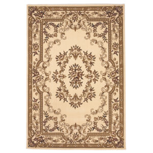 Corinthian Aubusson Ivory Rectangular: 9 Ft. 10 In. x 13 Ft. 2 In. Area Rug