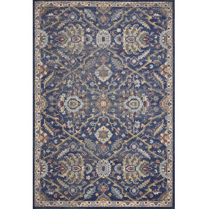 Corsica Courtyard Royal Blue Rectangular: 3 Ft. 3 In.X 4 Ft. 11 In. Area Rug