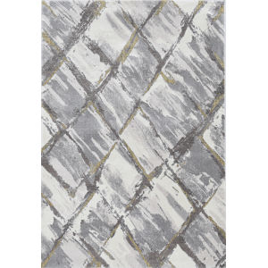 Elements Ivory and Gray Rectangular: 7 Ft. 10 In. x 10 Ft. 10 In. Rug