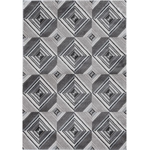 Elements Gray and Mocha Rectangular: 5 Ft. 3 In. x 7 Ft. 7 In. Rug