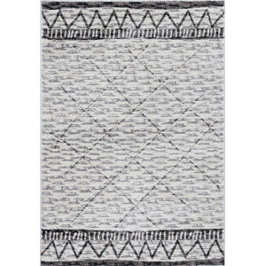 Elements Ivory and Mocha Rectangular: 7 Ft. 10 In. x 10 Ft. 10 In. Rug