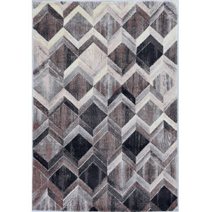 Elements Gray and Mocha Rectangular: 7 Ft. 10 In. x 10 Ft. 10 In. Rug