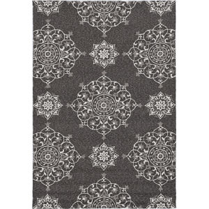 Harbor Courtyard Charcoal Round: 7 Ft. 6 In. Area Rug