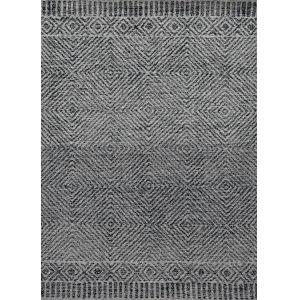 Hudson Gray and Black Rectangular: 5 Ft. x 7 Ft. Rug