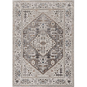 Inspire Grey Parisian Rectangle: 5 Ft. 3 In. x 7 Ft. 7 In. Area Rug