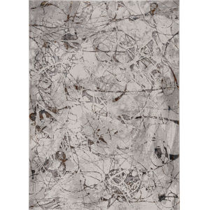 Inspire Ivory Grey Escape Rectangle: 7 Ft. 10 In. x 10 Ft. 10 In. Area Rug