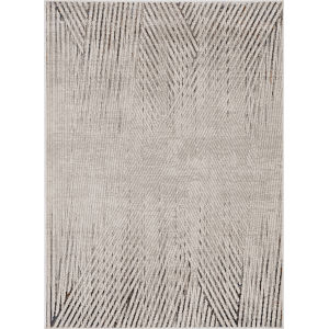 Inspire Ivory Grey Parker Rectangle: 7 Ft. 10 In. x 10 Ft. 10 In. Area Rug