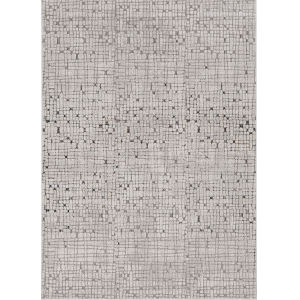 Inspire Grey Tribeca Rectangle: 6 Ft. 7 In. x 9 Ft. 6 In. Area Rug