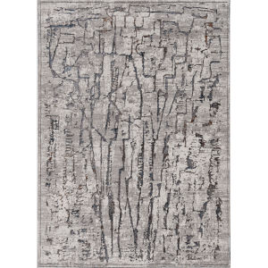 Inspire Grey Expressions Rectangle: 5 Ft. 3 In. x 7 Ft. 7 In. Area Rug