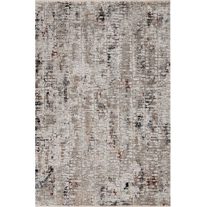 Karina Beige Grey Flatiron Rectangle: 7 Ft. 10 In. x 10 Ft. 10 In. Area Rug